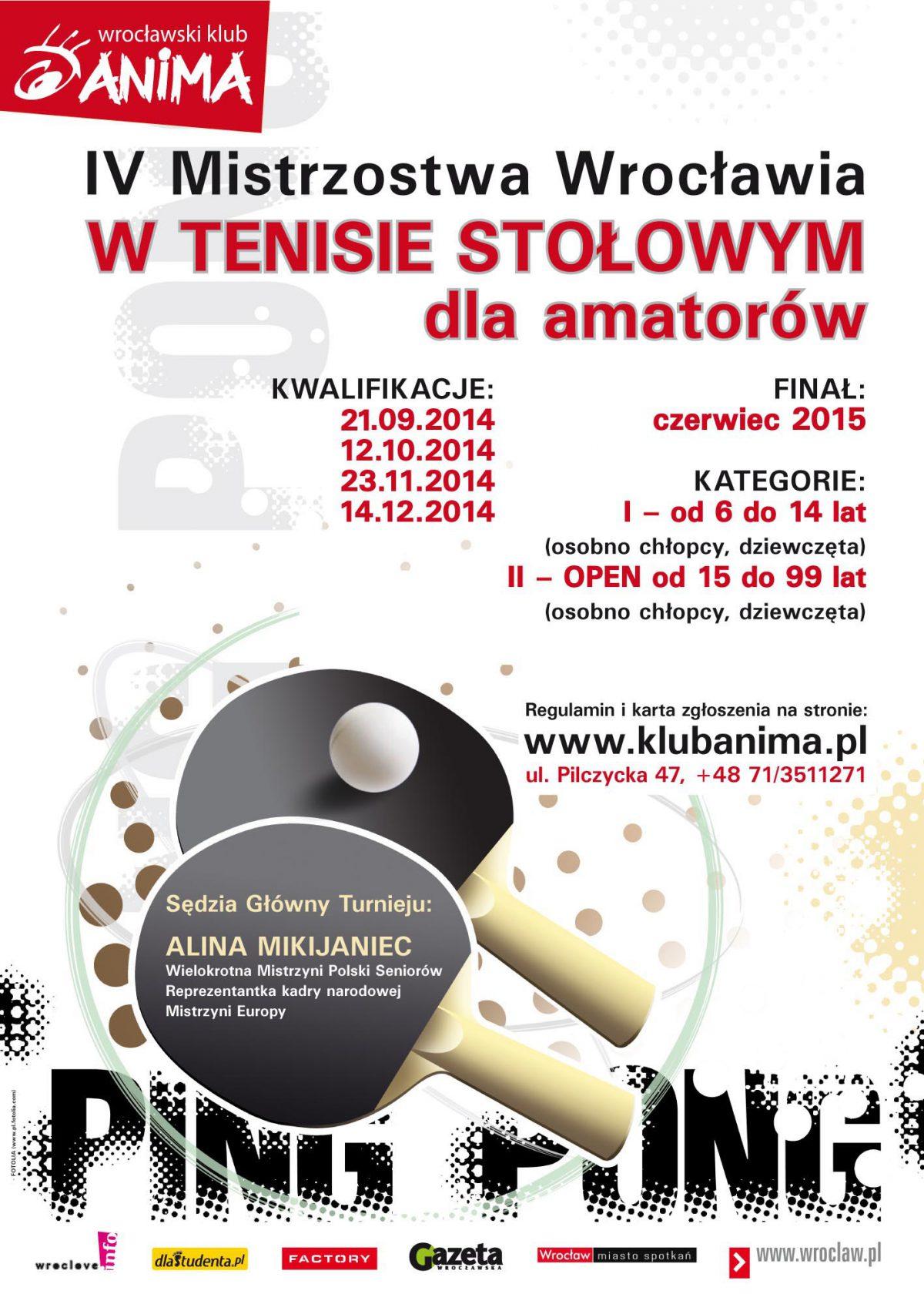 IV Mistrzostwa Wrocławia w Tenisie Stołowym