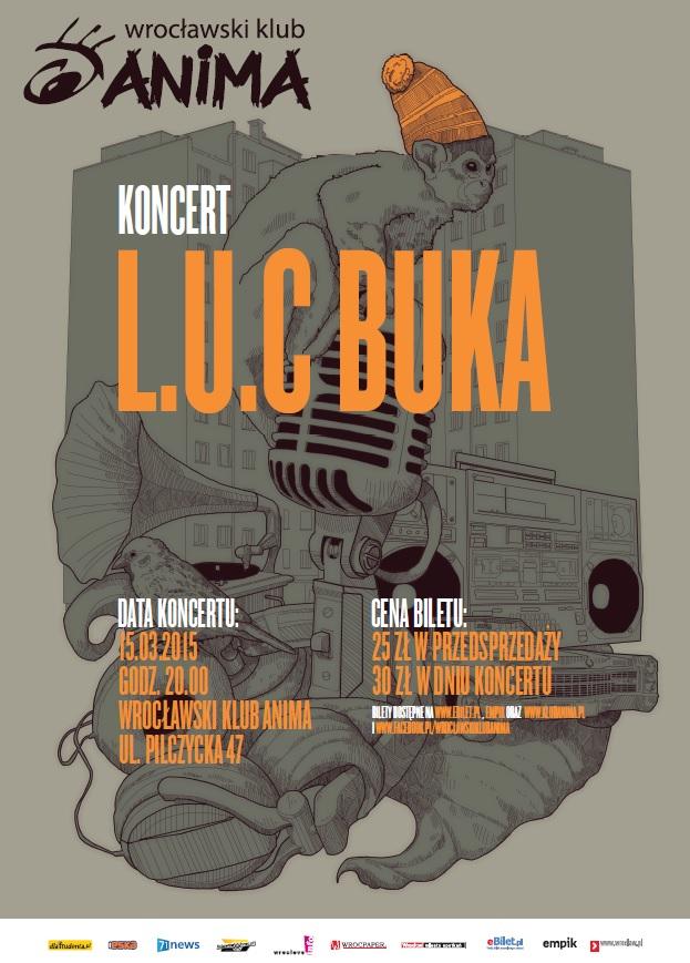 Koncert L.U.C + Buka