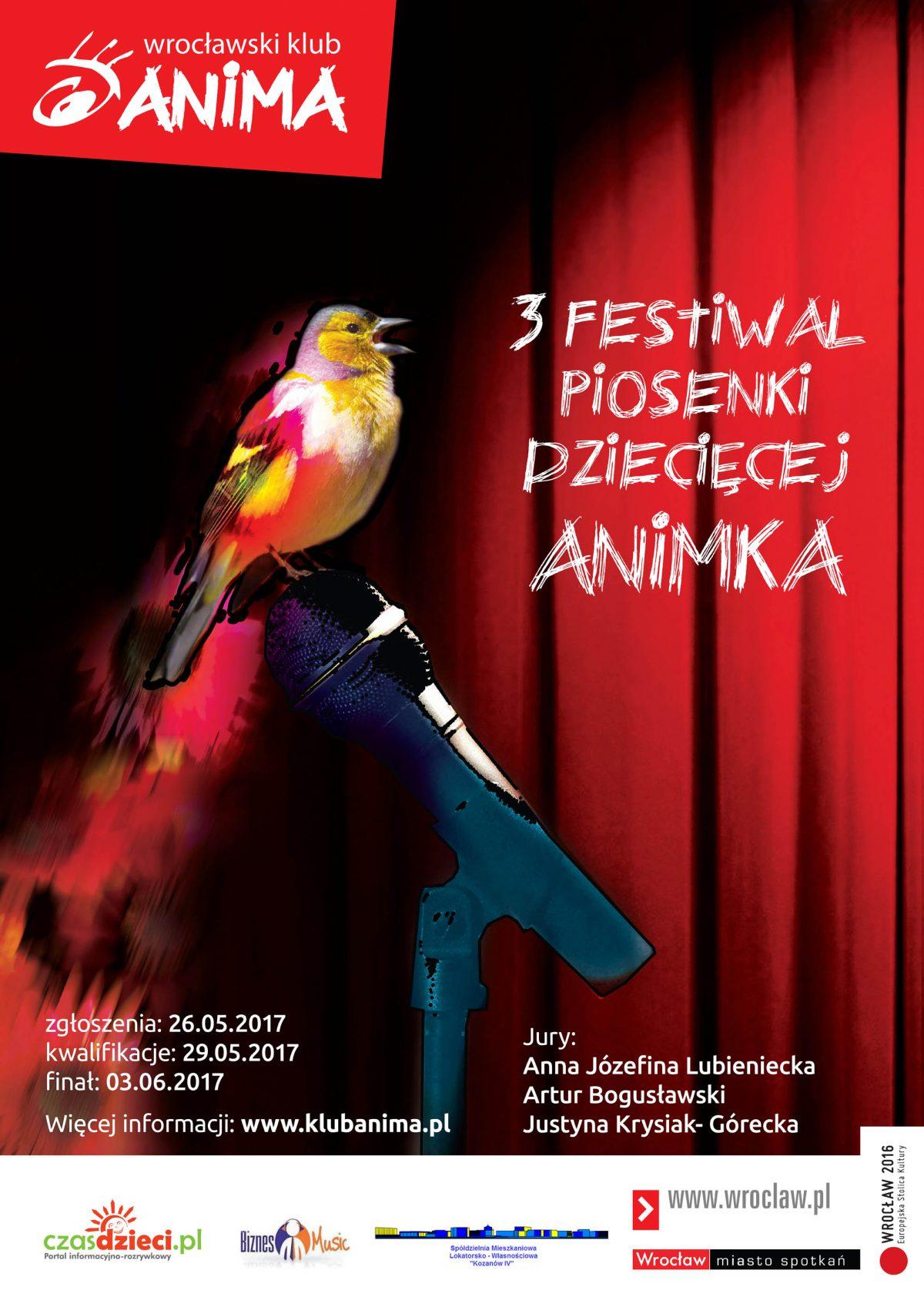 3 festiwal piosenki dziecięcej ANIMKA