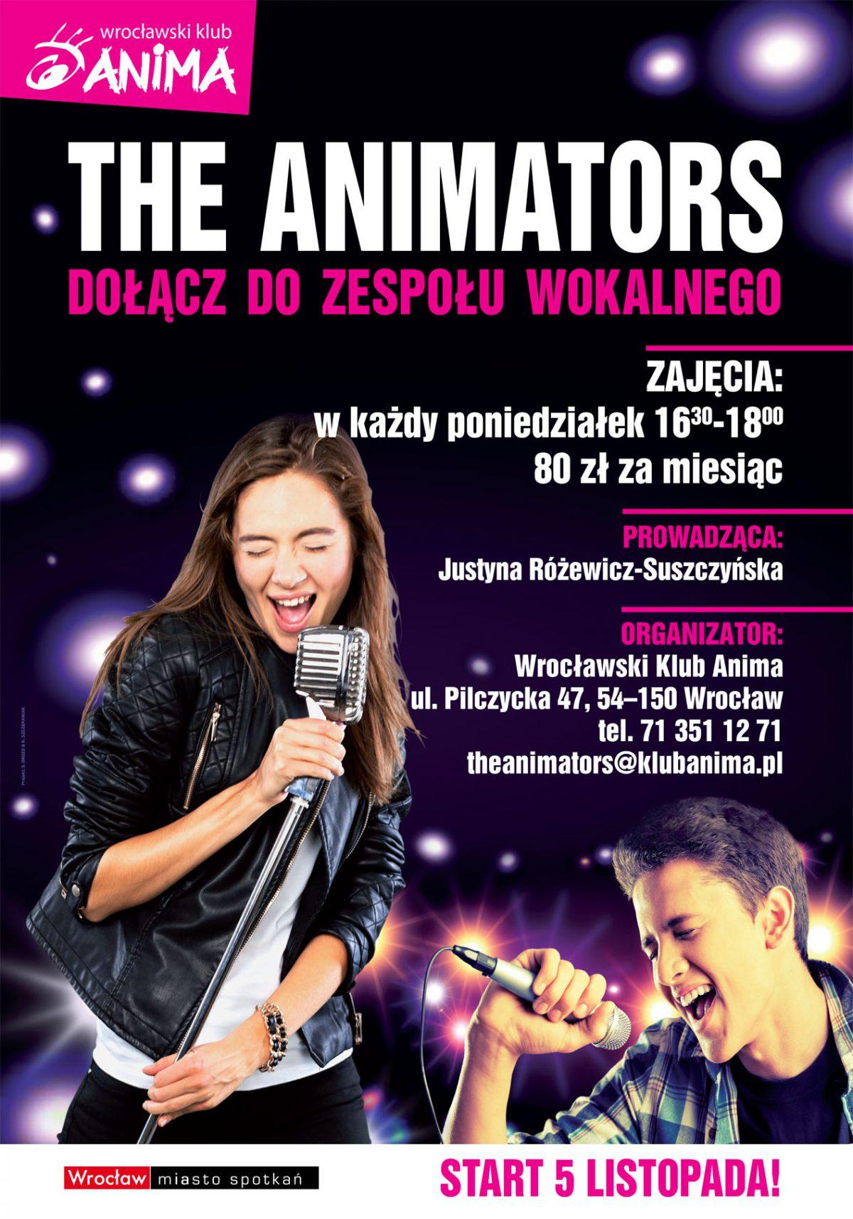 Dołącz do zespołu wokalnego The Animators