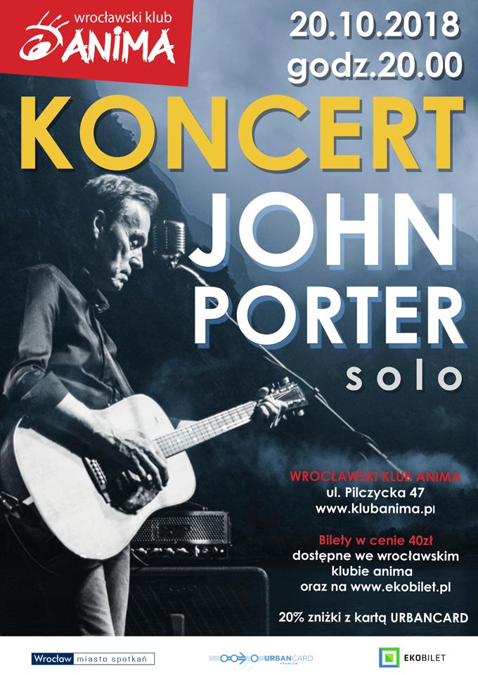 Koncert: John Porter SOLO