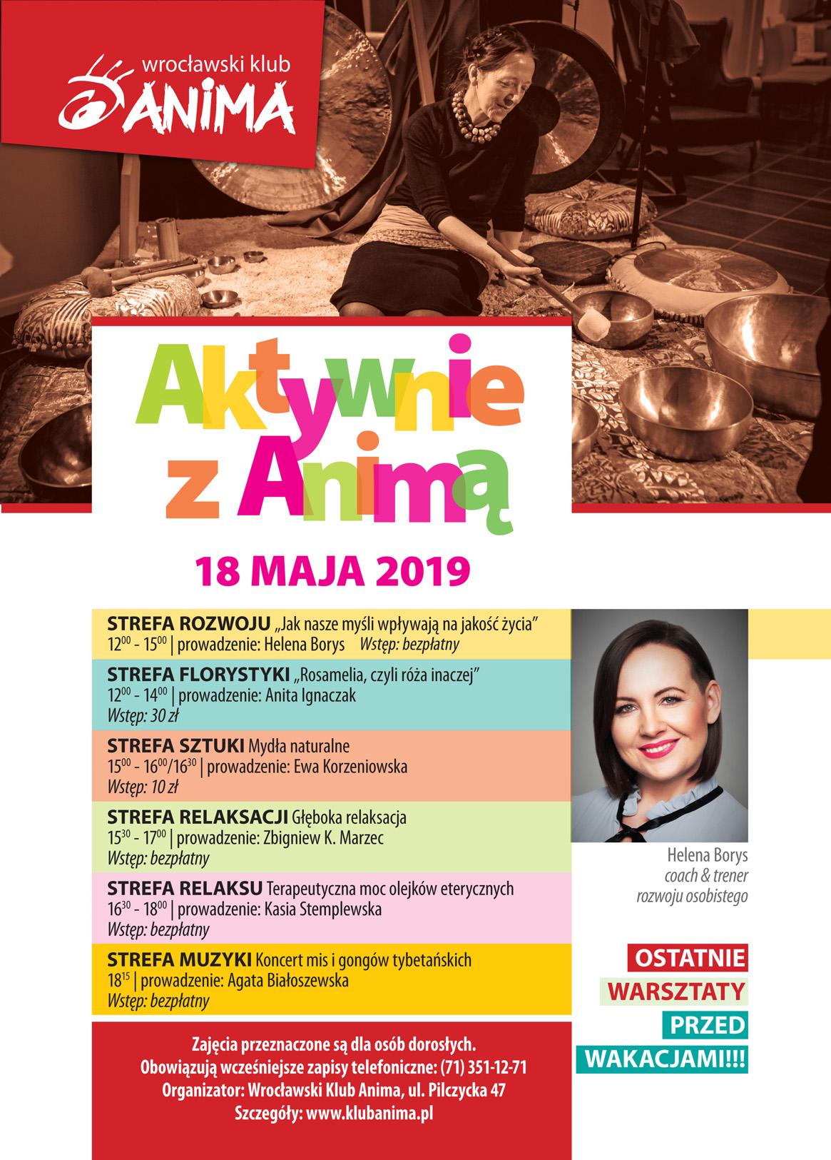 Aktywnie z Animą – 18 maja 2019r.