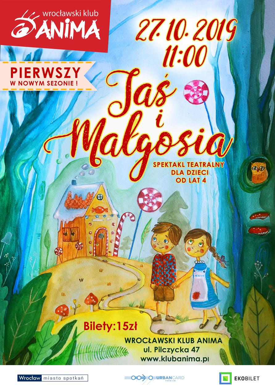 Jaś i Małgosia – spektakl dla dzieci