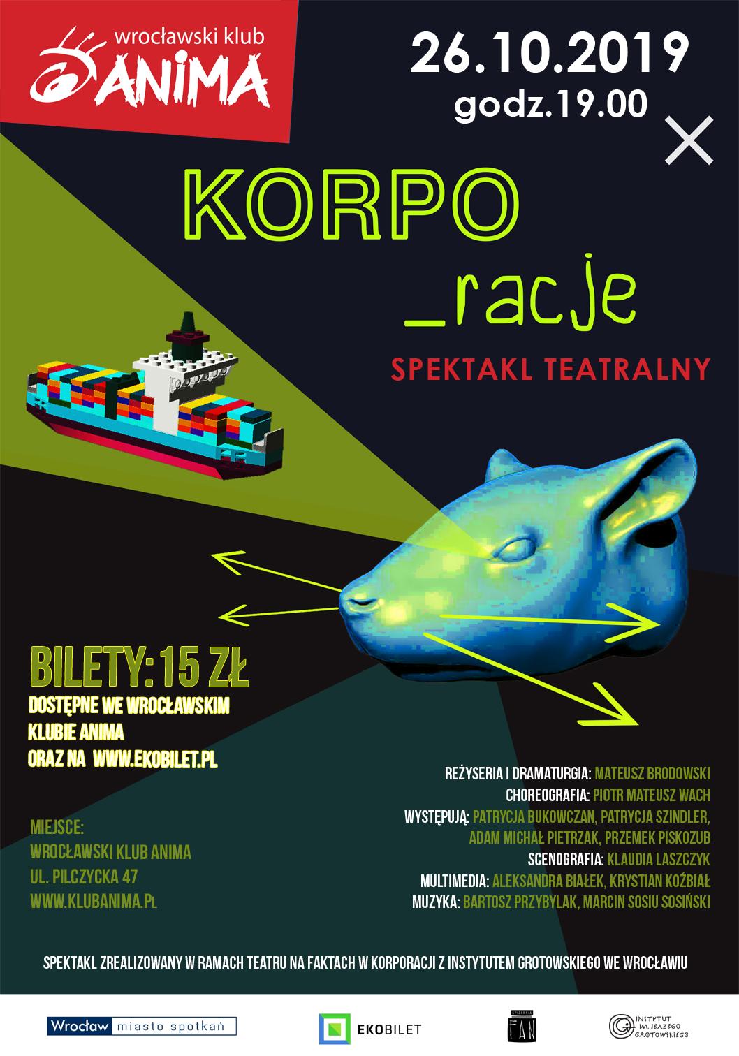 """Spektakl """"""""KORPO_racje"""" już 26.10!"""