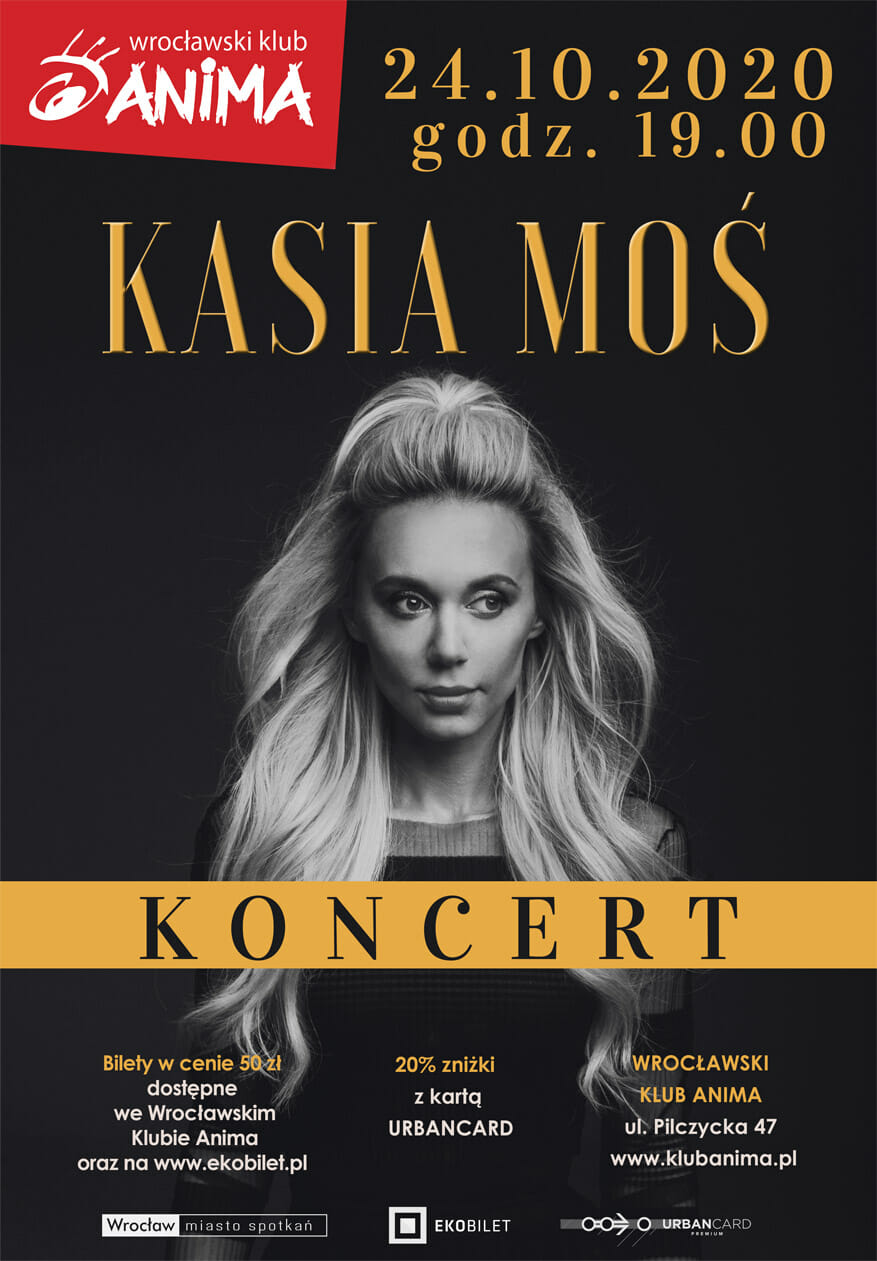 Koncert Kasi Moś – 24.10.2020