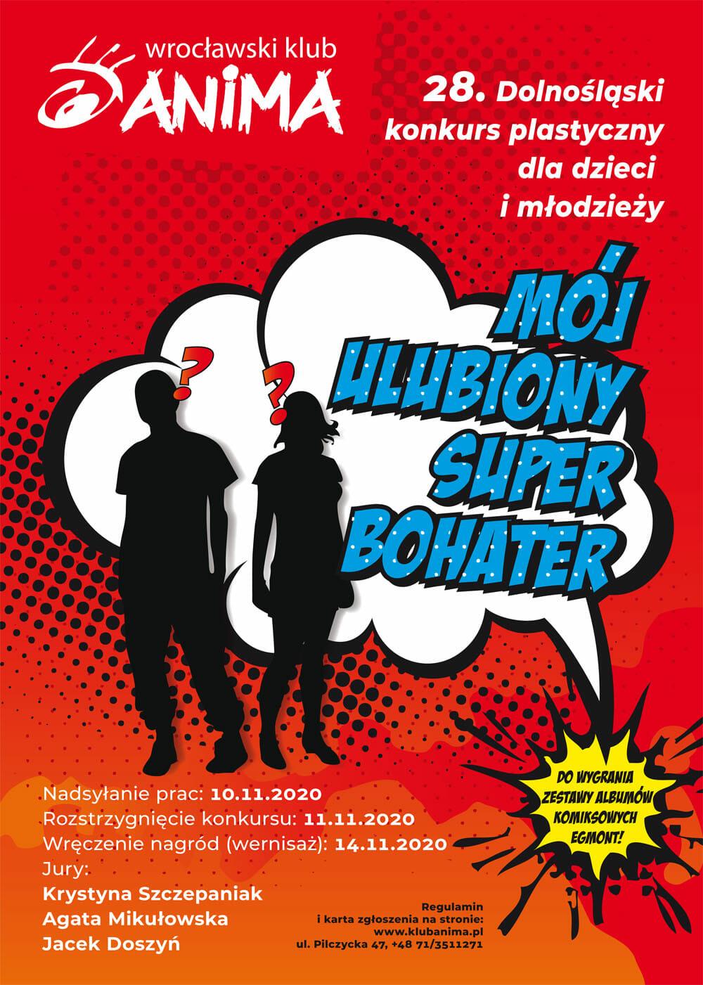 """XXVIII Konkurs Plastyczny Dla Dzieci i Młodzieży """"Mój ulubiony superbohater"""""""