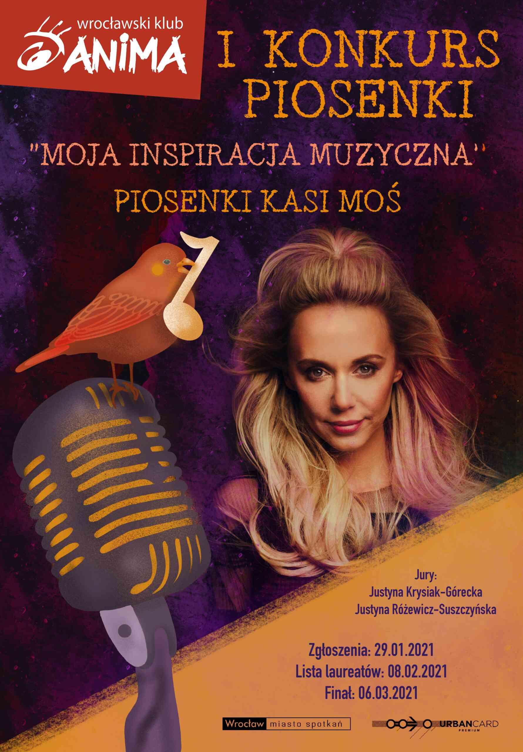 """I konkurs muzyczny """"Moja inspiracja muzyczna""""  – Piosenki Kasi Moś"""