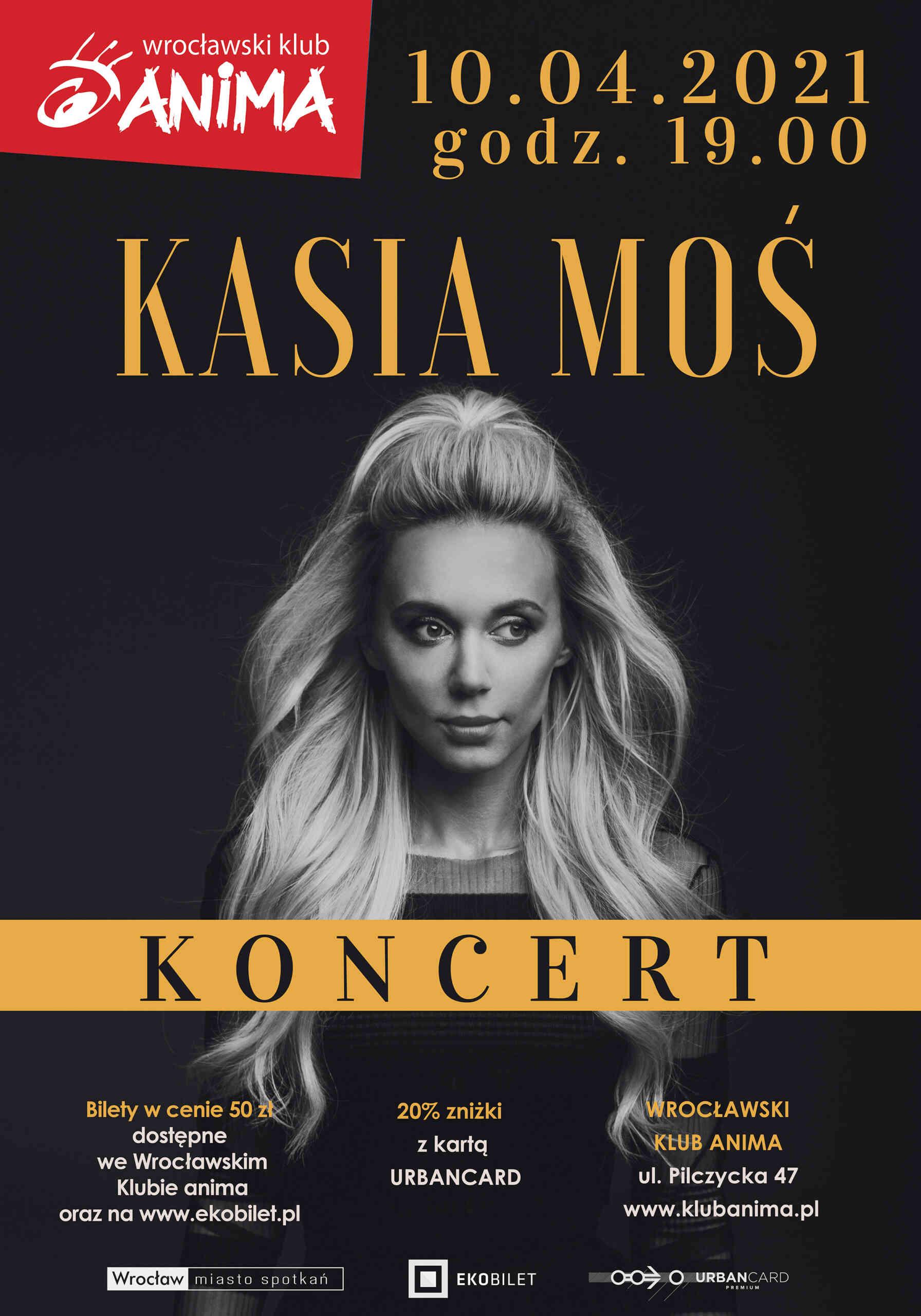 Koncert Kasi Moś – zmiana daty!