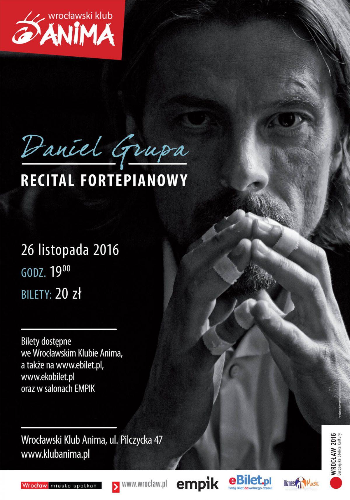 Recital fortepianowy Daniela Grupy