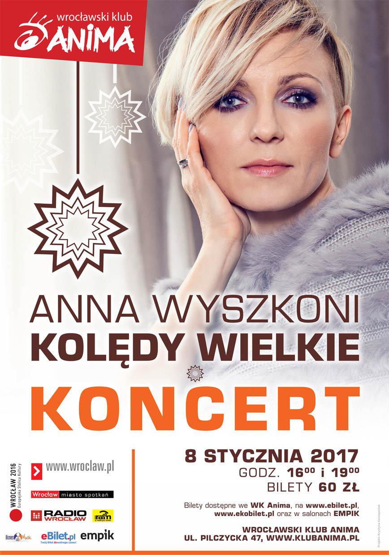 """KONCERT: Anna Wyszkoni """"Kolędy Wielkie"""""""