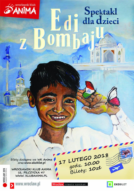 Edi z Bombaju- spektakl dla dzieci – BRAK BILETÓW!