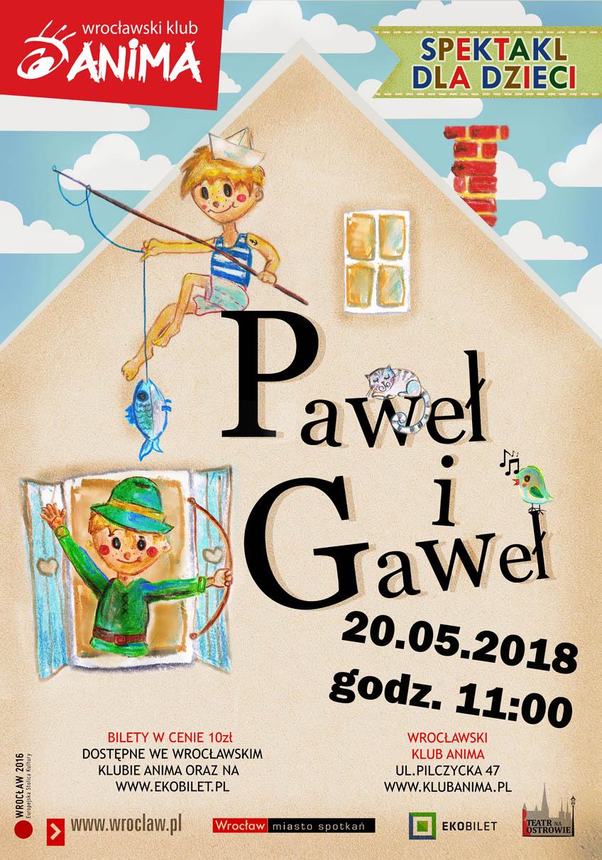 Paweł i Gaweł – spektakl dla dzieci