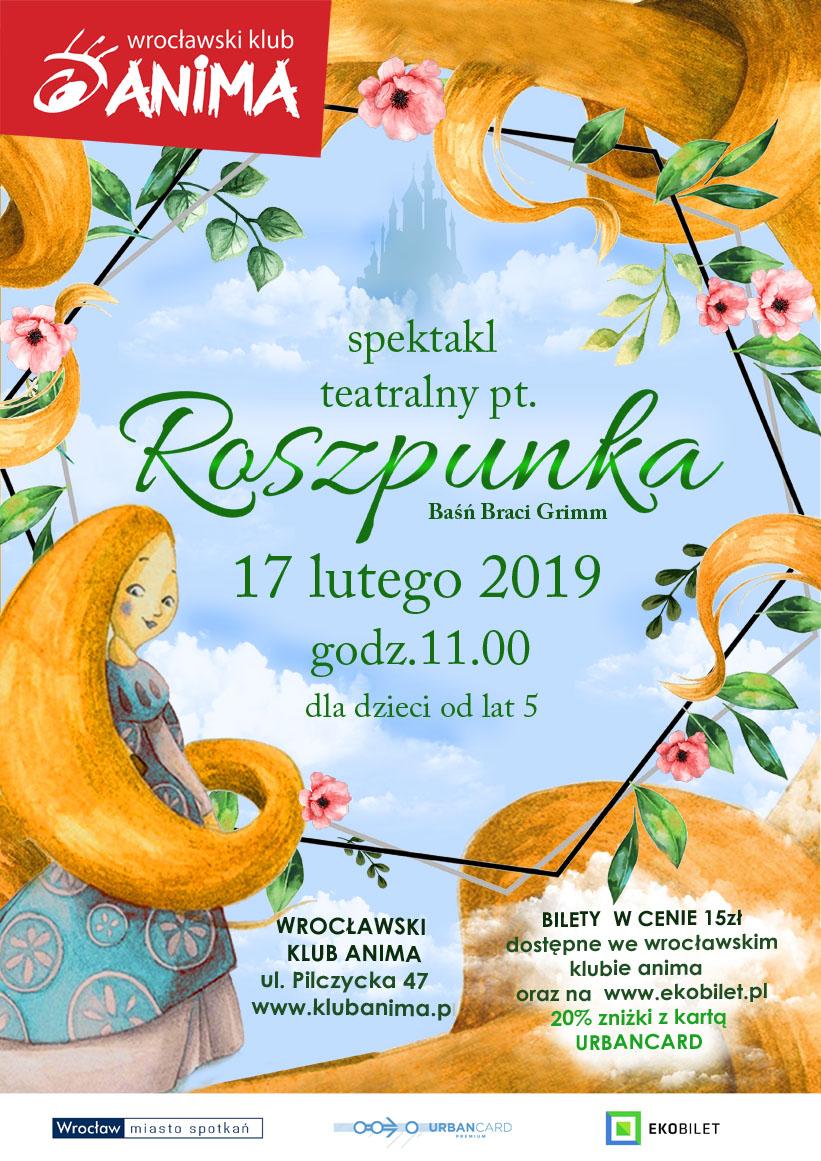 """Spektakl """"ROSZPUNKA"""" – 17.02.2019r."""