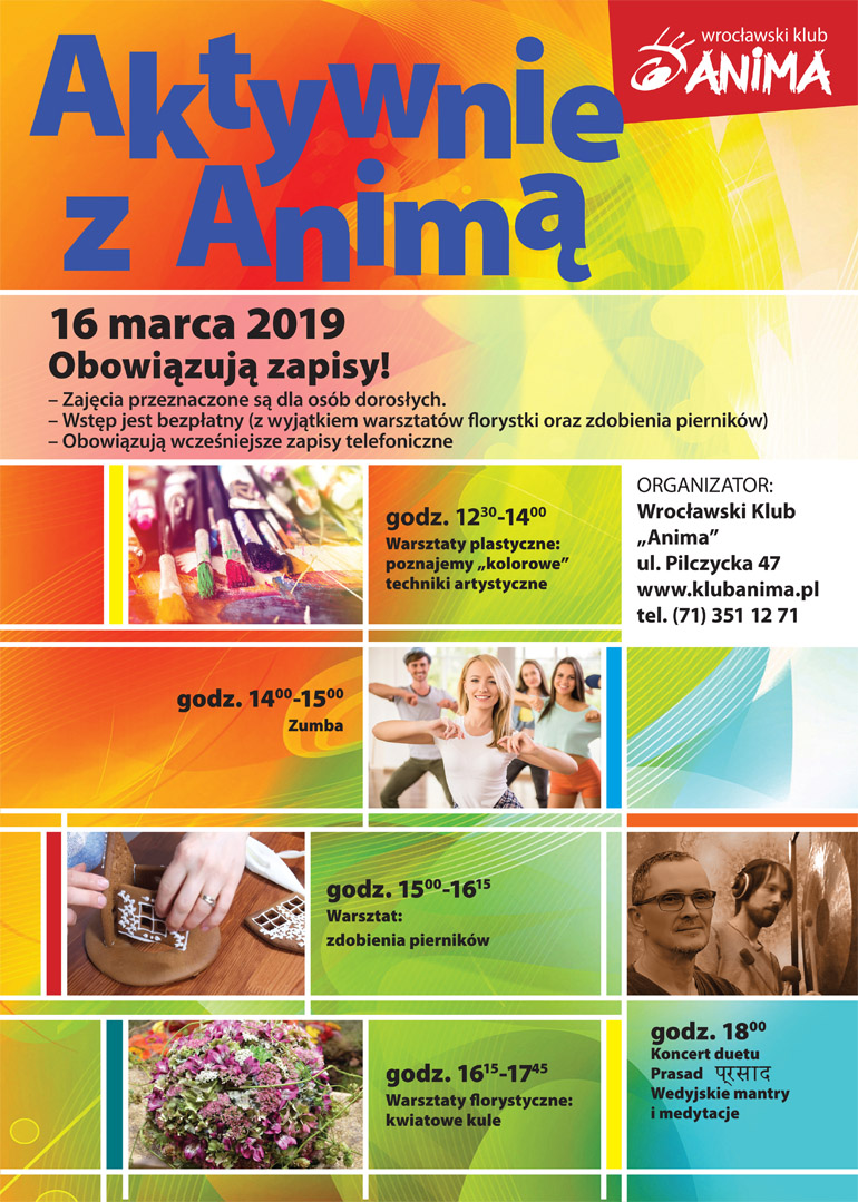 Aktywnie z Animą- 16 marca 2019