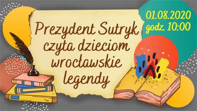 Prezydent Sutryk czyta dzieciom wrocławskie legendy