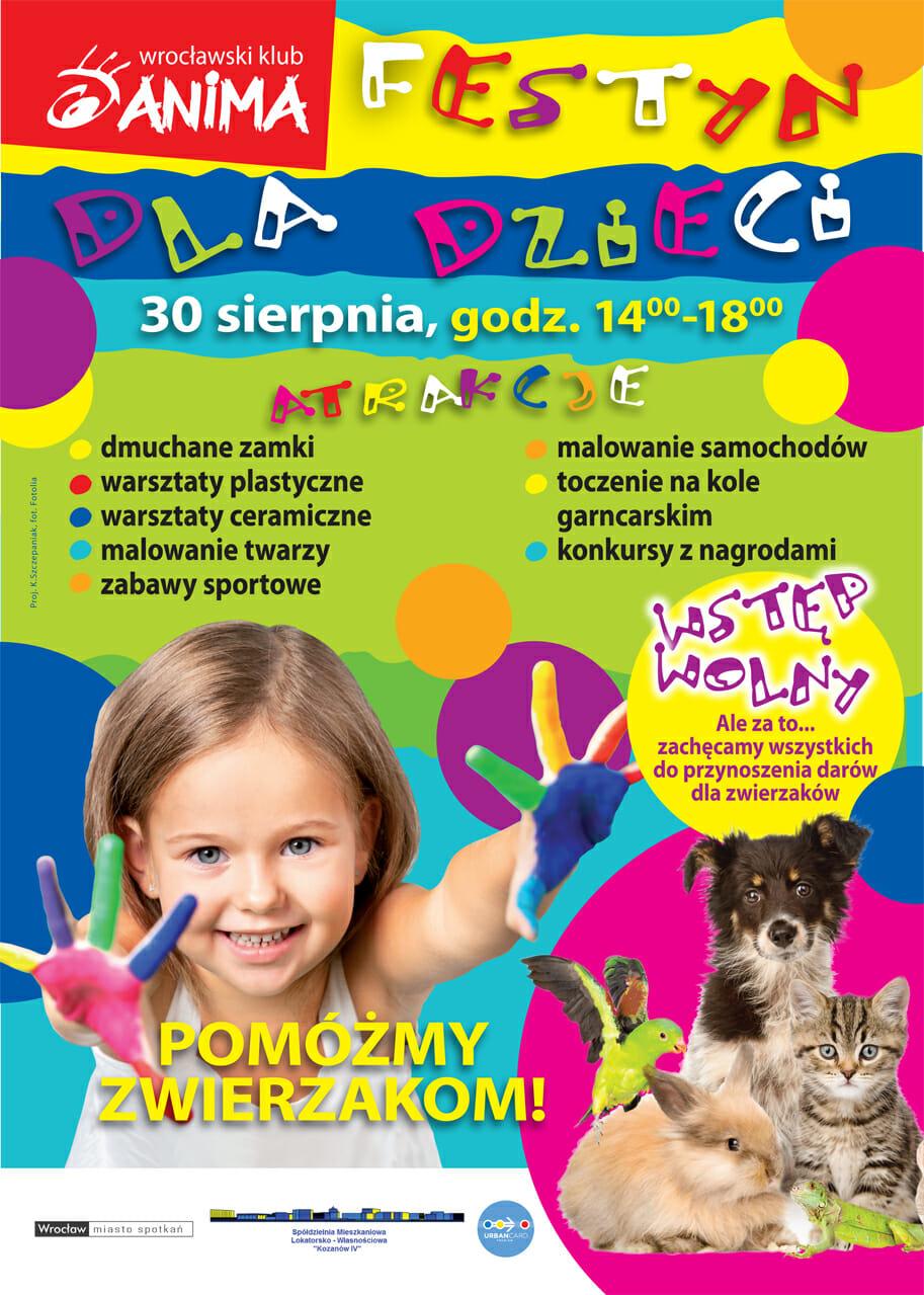 Festyn dla dzieci we Wrocławskim Klubie Anima- atrakcje bezpłatne