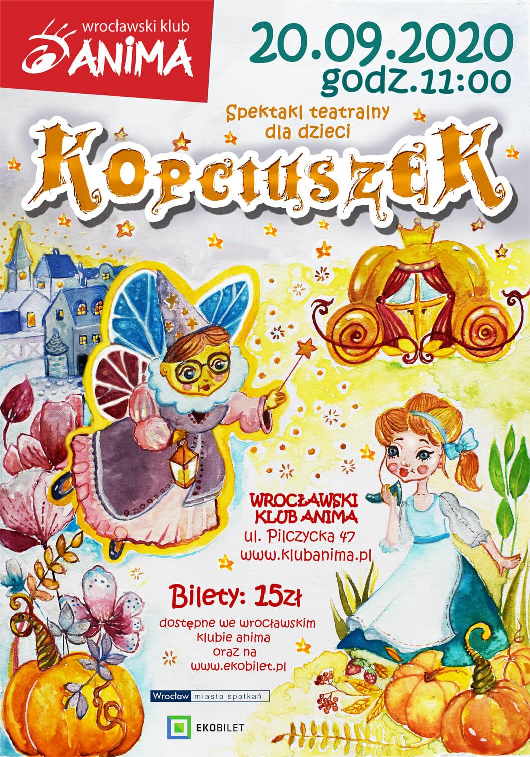 Kopciuszek – spektakl dla dzieci 20.09.2020