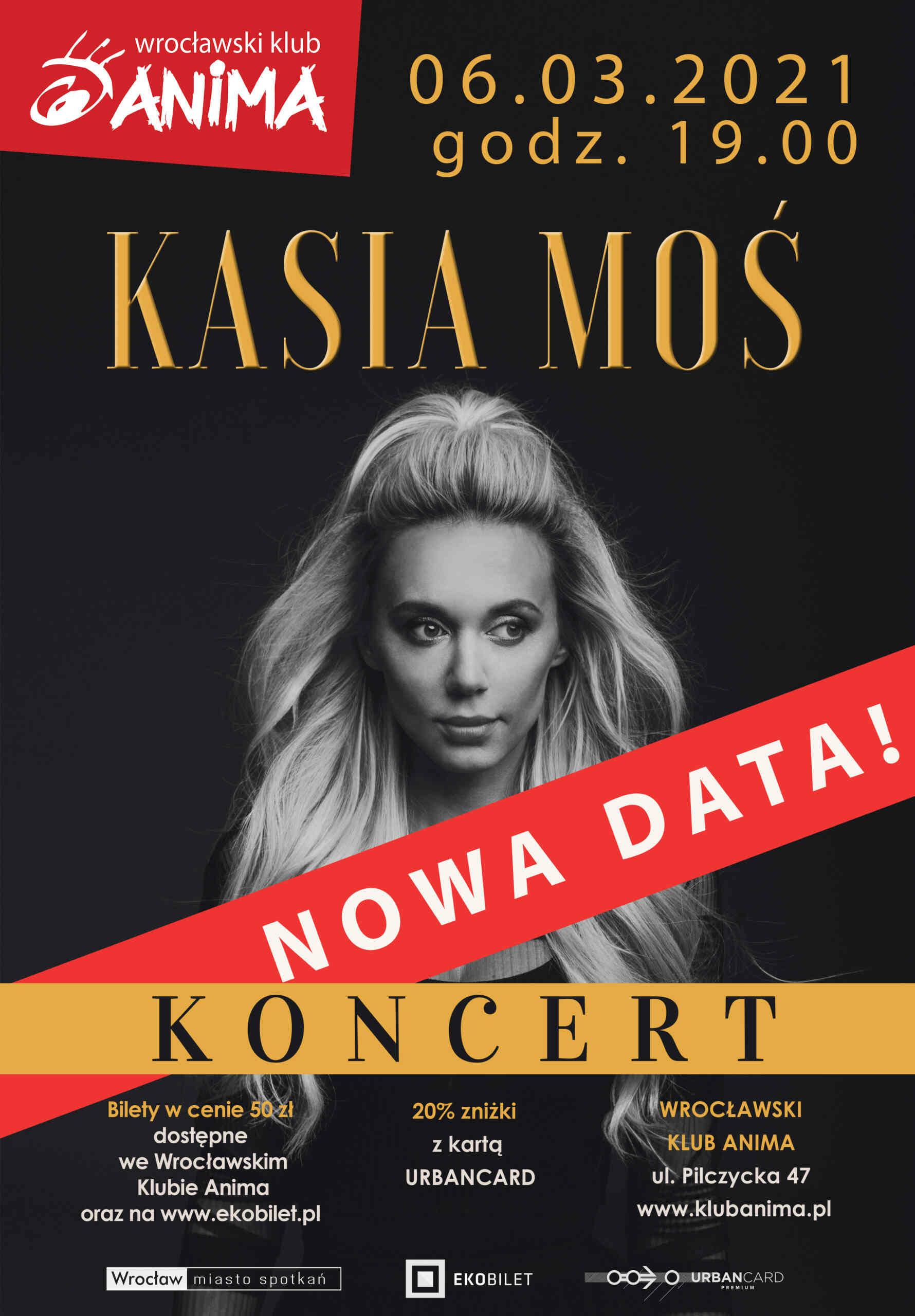 Koncert Kasi Moś – 24.10.2020 – ZMIANA TERMINU!