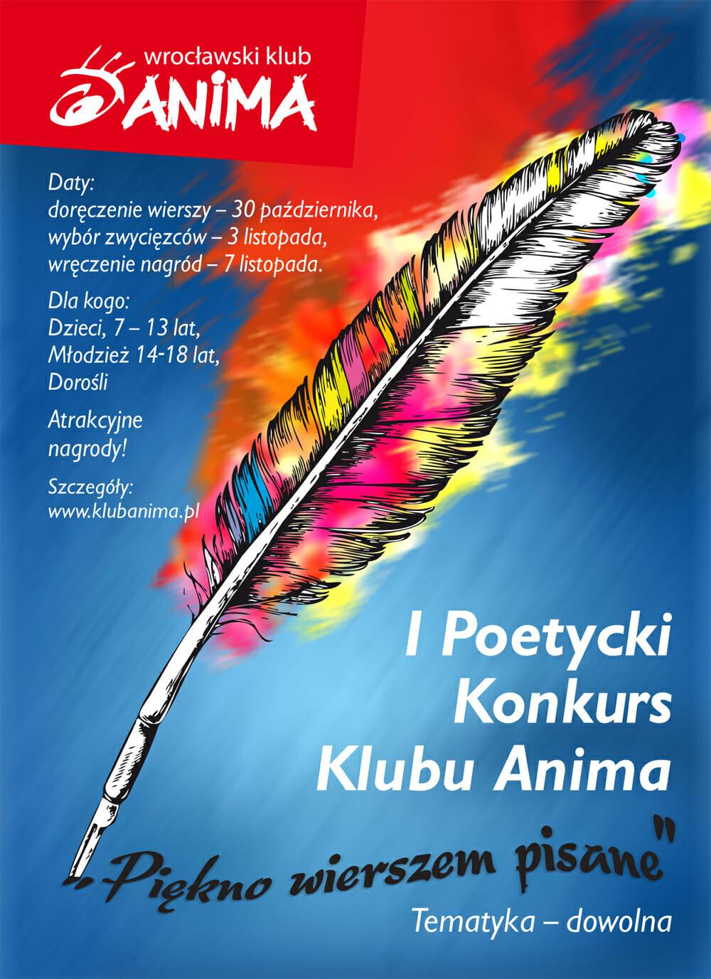 I Poetycki Konkurs Klubu Anima