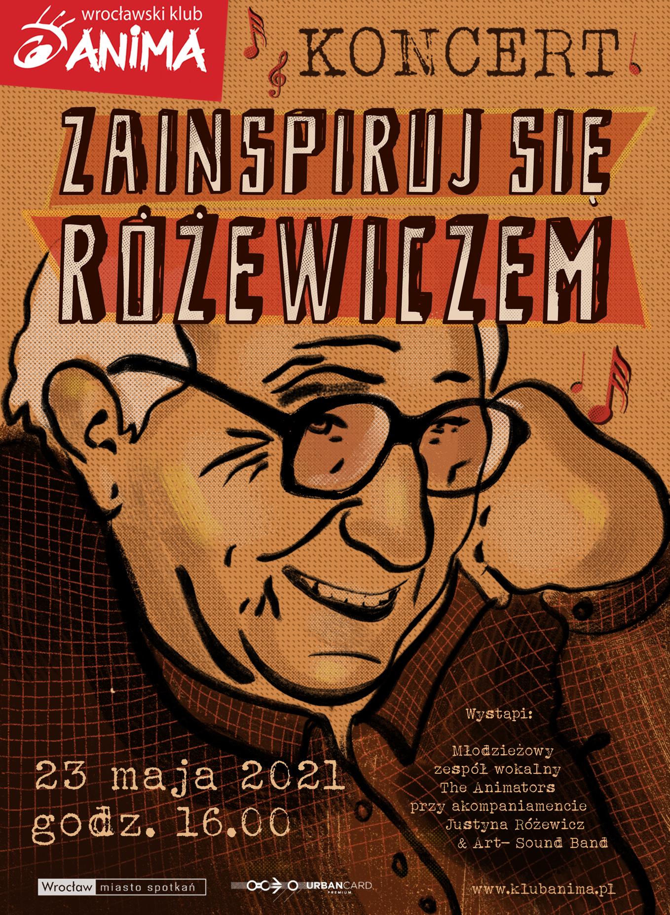 """""""Zainspiruj się Różewiczem"""" – koncert online 23.05.2021"""