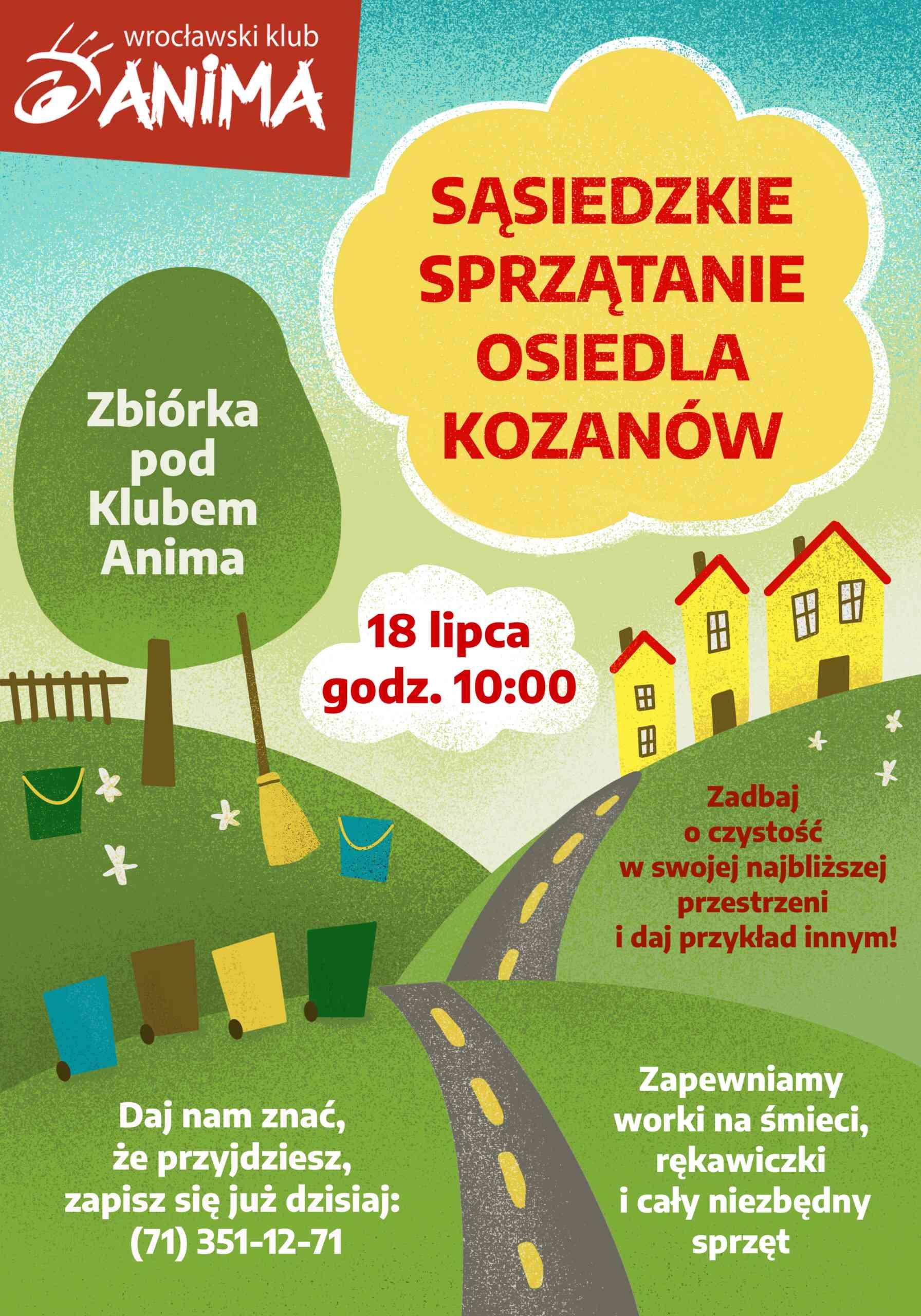 Sąsiedzkie sprzątanie osiedla Kozanów