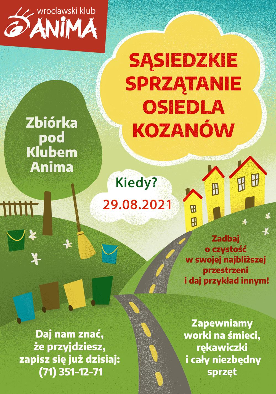 Sąsiedzkie sprzątanie osiedla Kozanów – edycja sierpniowa